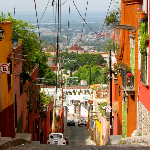 I thought we were done climbing up and down hills when we left Guanajuato.  I thought wrong...