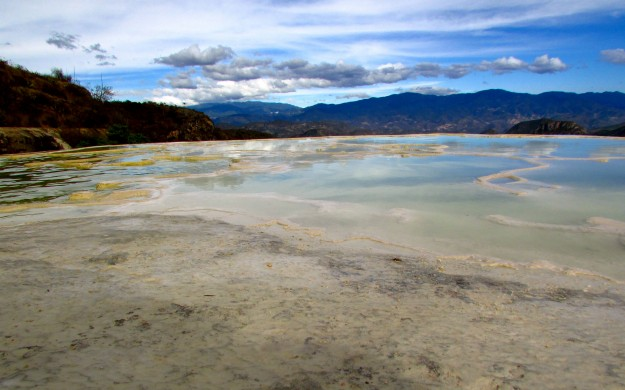 The mineral pools at Hierve del Agua.