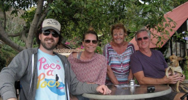 After Victoria and Jason, Lorna and David are my favorite humans.  This is all of us hanging out on Lake Atitlan.