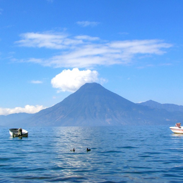 Volcanoes.  On a Lake.  Awesome.