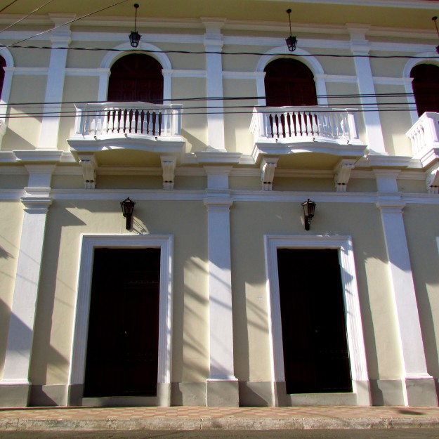The buildings in Granada are beautiful.  Victoria said it's because they are 'well-maintained'