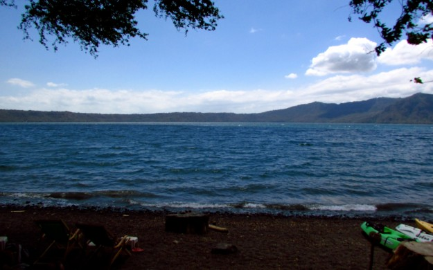 Laguna de Apoyo. Better to swim in than the ocean but I'm still not loving it.