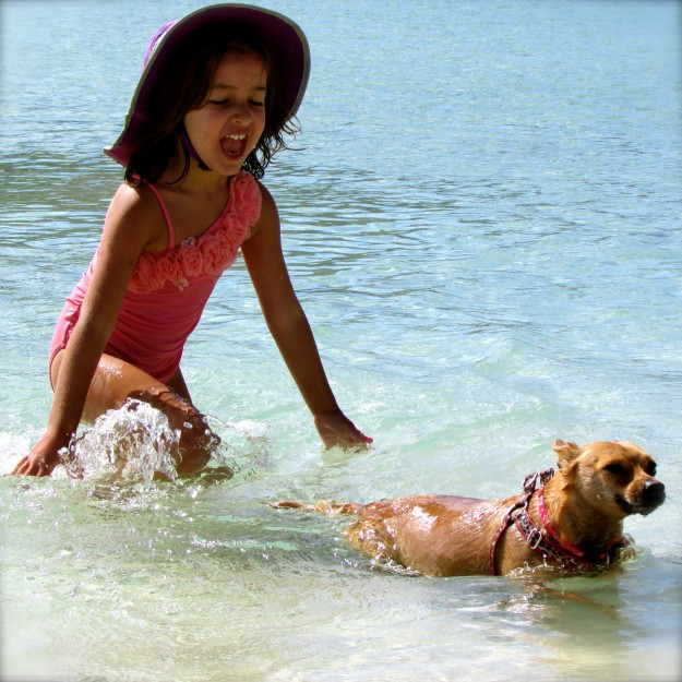 My friend Olivia and me playing in the water on the Baja. I miss you Olivia!
