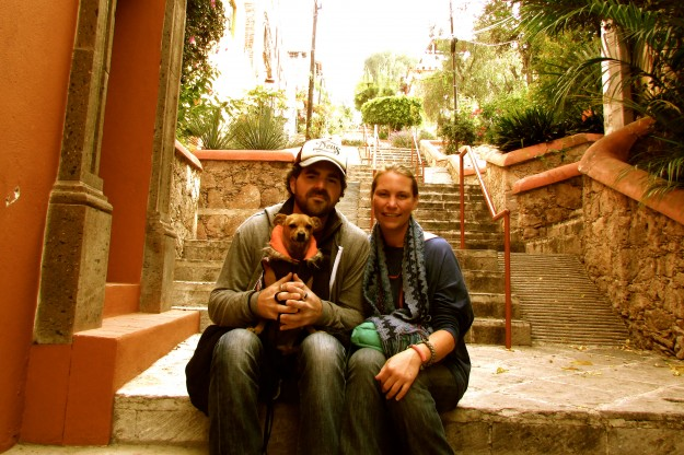 Family holiday of snap of us in San Miguel de Allende.