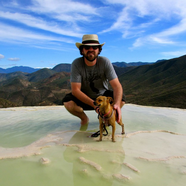 Me and Jason hanging out in the (frigid) pools at Hierve del Agua.