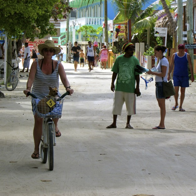 Vic and I out for a bike ride on Caye Caulker, Belize. It was just like when we used to go for rides back in Venice!