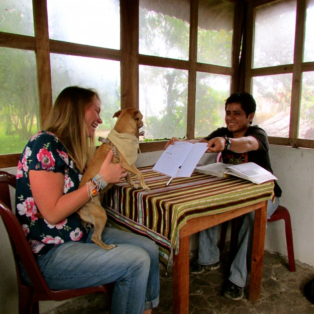 Victoria and Jason took Spanish classes in San Pedro, Guatemala. I went to class with them most days, but I didn't learn that much.