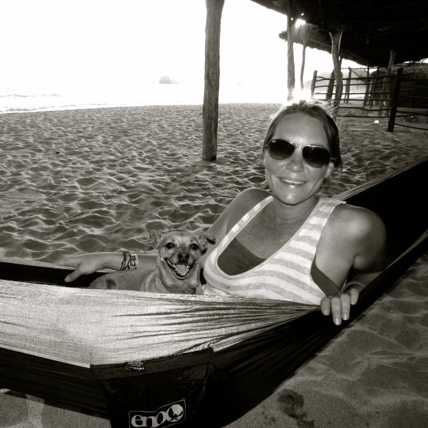 If I wasn't running on the beach, you could find me snuggled up with Victoria in one of our hammocks.