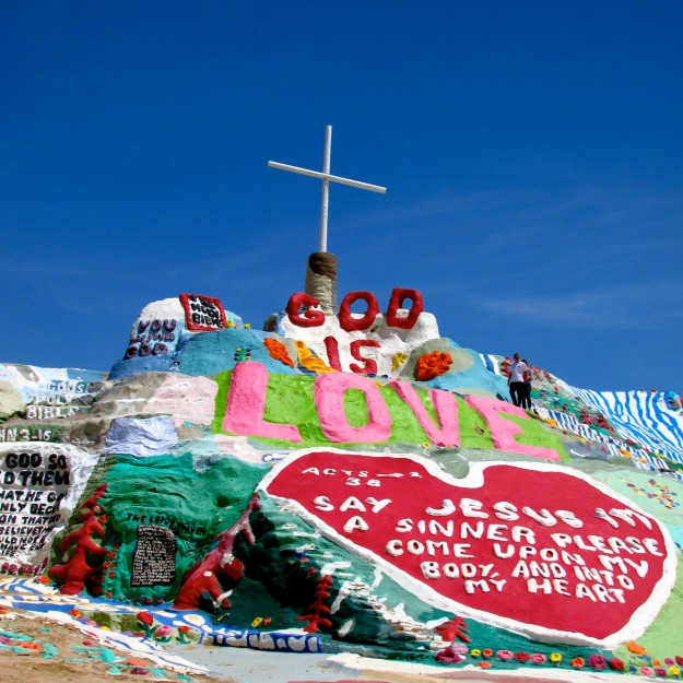 Salvation Mountain.  DOG IS LOVE.